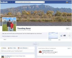 """Like"" Traveling Saver on Facebook for even more deals! Image courtesy of http://www.facebook.com/TravelingSaver"